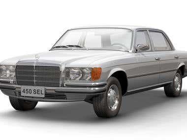 1974 Mercedes-Benz 450 SEL 3D model