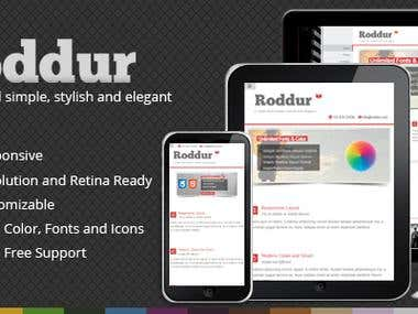 Roddur-Clean multipurpose responsive theme