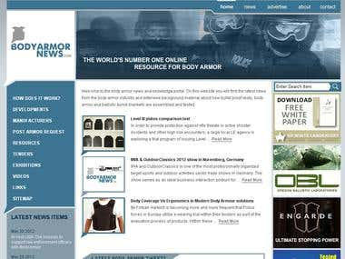 BodyArmorNews Website
