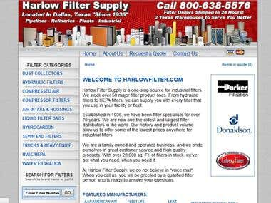 harlowfilter.com Is a zen-cart eCommerce website