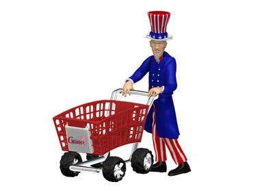 Shopping Cart in 3D