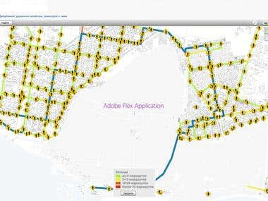GIS module for the Department of Road Management