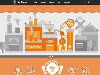 Fish Finger Desktop + Mobile Websites