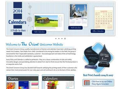 The Orient Unicornn Website