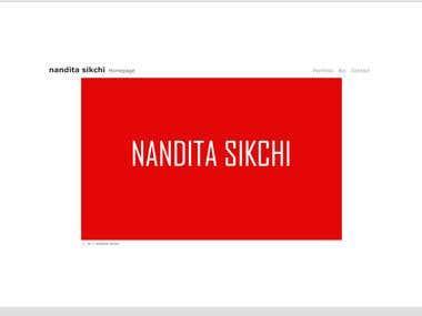Nandita Sikchi Fashion Designer Website
