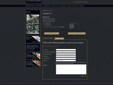 Wordpress presentation for Door Manufacturer