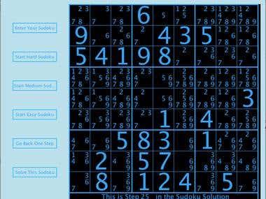Sudoku Game in JAVA