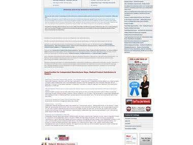 Medical Sales Network Website