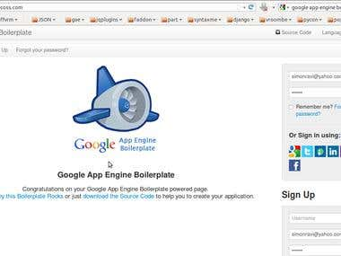 Google App Engine BoilerPlate