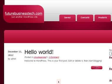Developed a WordPress theme for futurebusinesstech.com
