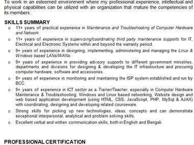 IT System management, network design & developer.