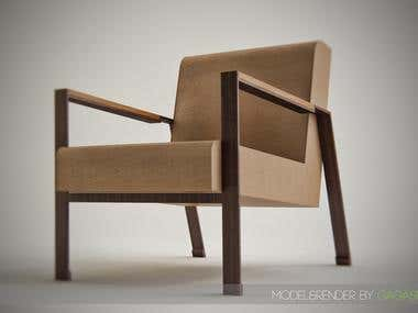 model&render of a chair