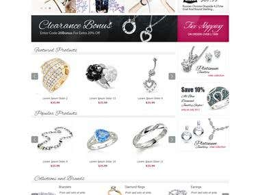 For Sale ! - Ecommerce Jewelry Store w/ Shopping Cart