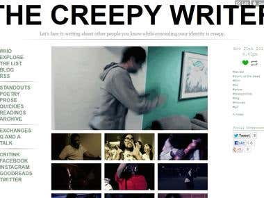 The Creepy Writer Tumblr Blog Design