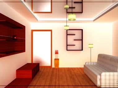 Interior Rendering: Hall