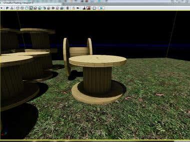 3D Asset - Wooden Spool