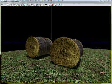 3D Asset - Round Bale
