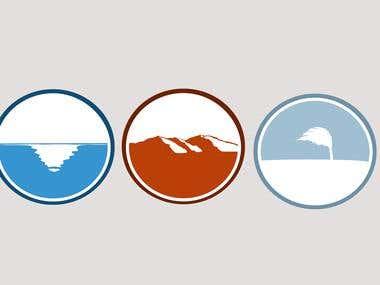 Air \  Water \ Soil LOGO's