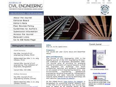 A website about Civil Engineering in Bangladesh