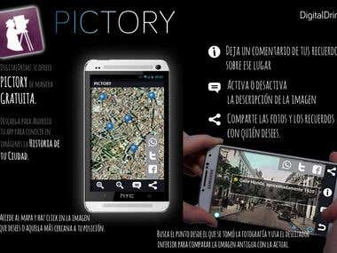 Pictory - Aplicación social para patrimonios históricos