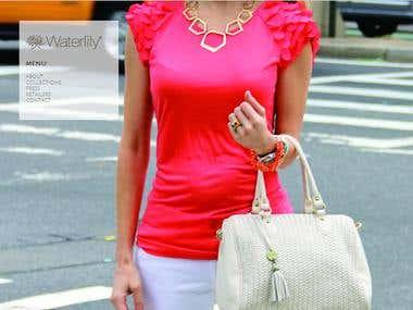 WaterLily Designer Bags Website