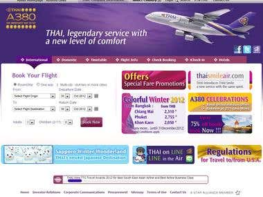 Thai Airways' website renovation project