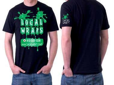 black t-shirt design