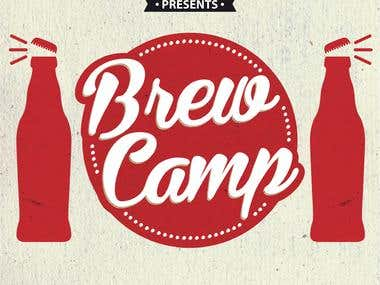 Pamphlet Design - Brew Camp