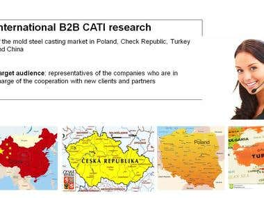 International B2B CATI research (mold steel casting)