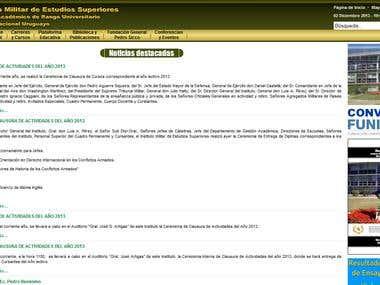 Instituto Militar de Estudios Superiores (www.imes.edu.uy)