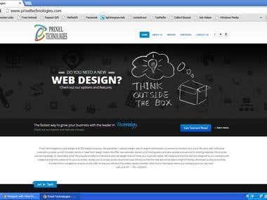 Website Developed for Prixel Technologies