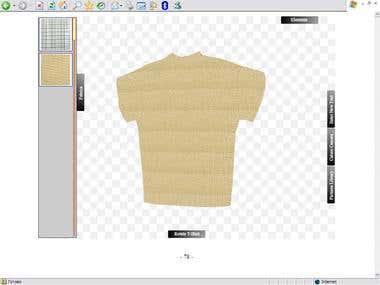 t-shirt designer. in 3D