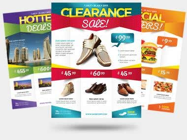 Product Promotion Business Flyers