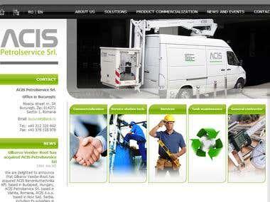 Complete website for ACIS Petrolservice Ltd