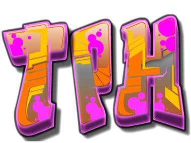 graffiti type logo designed