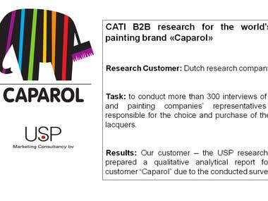 CATI B2B research for Caparol