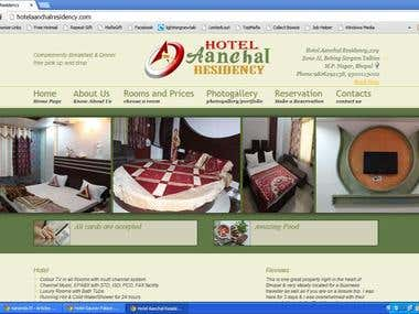This is a Demo Website Developed for any Hotel
