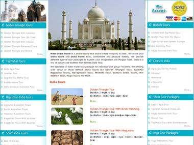 Make India Travel  Website - HTML