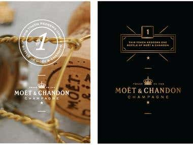 Design Work for Moet & Chandon