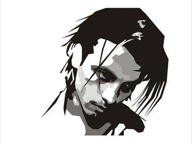 Johnny Depp - vectorial modelling