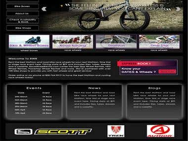 Race Wheel Rental Website.