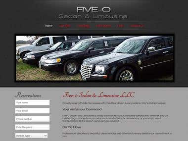 Five-0 Sedan - Joomla Website