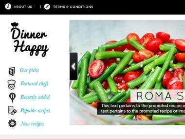 Dinner Happy website design