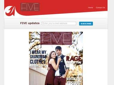 Five Magazine Website Design