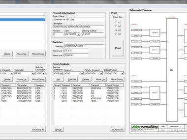 Switching Schematic Diagramming Tool
