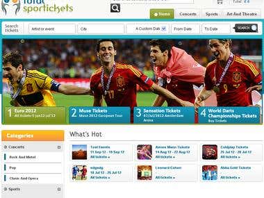 Total Sports Ticket - Zend, PHP, HTML
