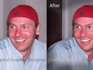 Image Editing, Red Eye remove, skin smoothen