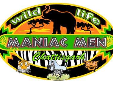 "Logo of Manic Man ""Save Wild Life"""