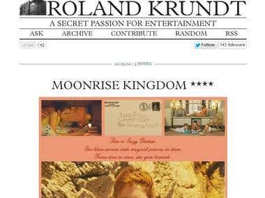 ROLAND KRUNDT Tumblr Overhaul