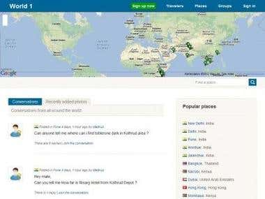 Wo1.net - A Travel Social Networking Website